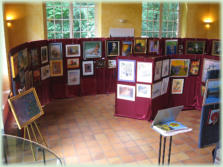 Exposition d'association de peintres amateurs